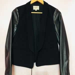 LOFT Faux leather blazer
